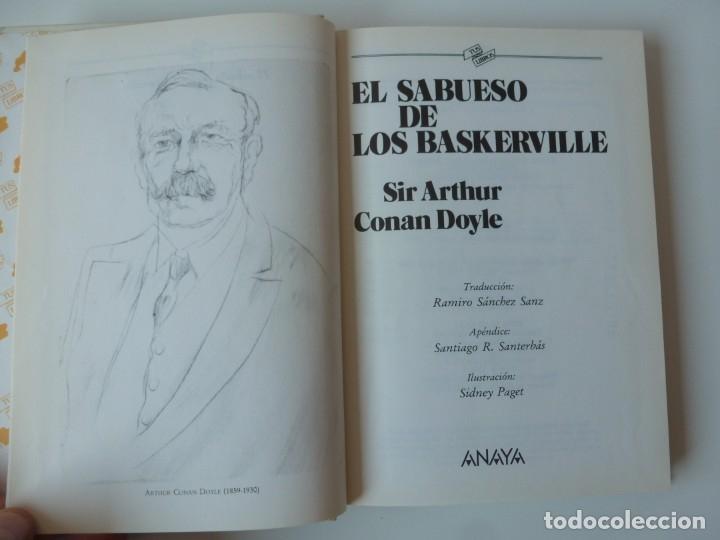 Libros de segunda mano: EL SABUESO DE LOS BASKERVILLE. A. CONAN DOYLE. ANAYA TUS LIBROS Nº 90 - Foto 5 - 177785839