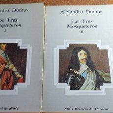 Libros de segunda mano: LOS TRES MOSQUETEROS EN DOS TOMOS. Lote 178899568