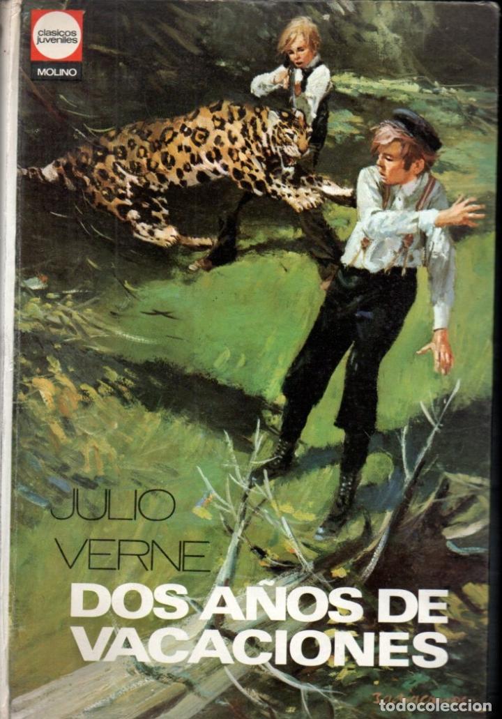 JULIO VERNE : DOS AÑOS DE VACACIONES (MOLINO, 1973) FORMATO GRANDE (Libros de Segunda Mano - Literatura Infantil y Juvenil - Novela)