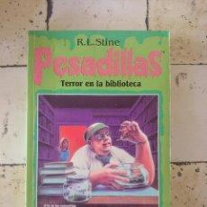 Libros de segunda mano: PESADILLAS N 9. R.L.STINE . TERROR EN LA BIBLIOTECA.. Lote 179525325