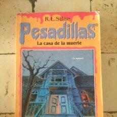 Libros de segunda mano: PESADILLAS N 4. R.L.STINE . LA CASA DE LA MUERTE.. Lote 179525653