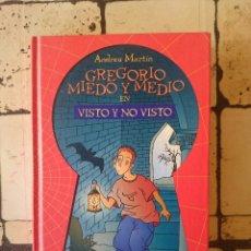 Libros de segunda mano: GREGORIO MIEDO Y MEDIO N 3 . VISTO Y NO VISTO. ANDREU MARTÍN.. Lote 179530425