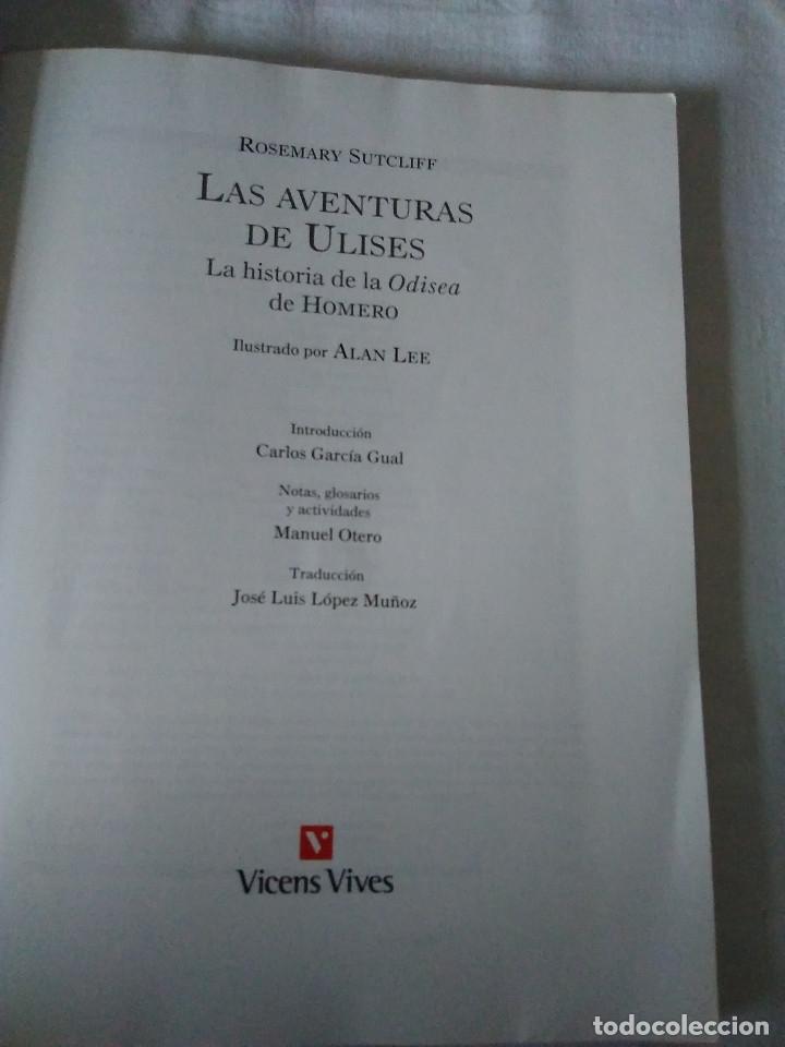 Libros de segunda mano: 123-LAS AVENTURAS DE ULYSES, La historia de la Odisea, Homero, Rosemary Sutcliff,2003,ilustrado - Foto 3 - 182430676