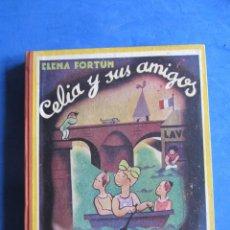 Libros de segunda mano: CELIA Y SUS AMIGAS. ELENA FORTUN. AGUILAR EDITOR MADRID. 1943. Lote 183706935