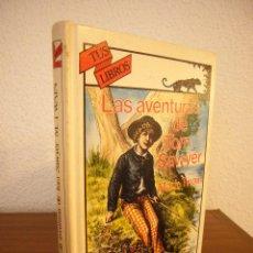 Libros de segunda mano: MARK TWAIN: LAS AVENTURAS DE TOM SAWYER (ANAYA, TUS LIBROS Nº 118, 1991) PRIMERA EDICIÓN. Lote 186236437