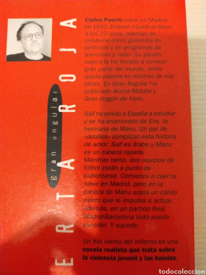 Libros de segunda mano: Un frío viento del infierno. Carlos Puerto. ISBN 9788434856769 - Foto 2 - 189586567