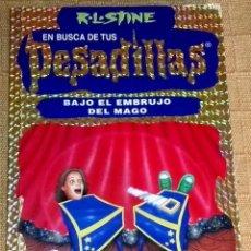 Libros de segunda mano: BAJO EL EMBRUJO DEL MAGO; R.L. STINE - EDICIONES B, EN BUSCA DE TUS PESADILLAS Nº7, 1ª ED. 1998. Lote 191003143