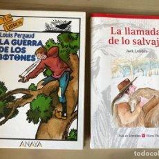 Libros de segunda mano: LA GUERRA DE LOS BOTONES. LA LLAMADA DE LO SALVAJE. Lote 192751140
