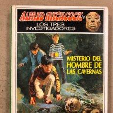 Libros de segunda mano: ALFRED HITCHCOCK Y LOS TRES INVESTIGADORES N° 34. MISTERIO DEL HOMBRE DE LAS CAVERNAS. Lote 194776727