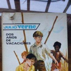 Libros de segunda mano: 23 JULIO VERNE DOS AÑOS DE VACACIONES EDITORIAL MOLINO 1962 . Lote 194962113