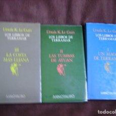 Libros de segunda mano: LOS LIBROS DE TERRAMAR. TRILOGÍA. Lote 195197537