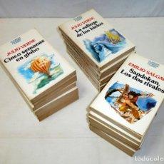 Libros de segunda mano: COLECCIÓN DE 24 CLÁSICOS JUVENILES PLANETA – JULIO VERNE Y EMILIO SALGARI.. Lote 195425812