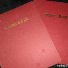 Libros de segunda mano: LOTE EDITORIAL FHER UN CAPITÁN DE 15 AÑOS J VERNE ROBINSON CRUSOE D. DE FOE 1967. Lote 199174915