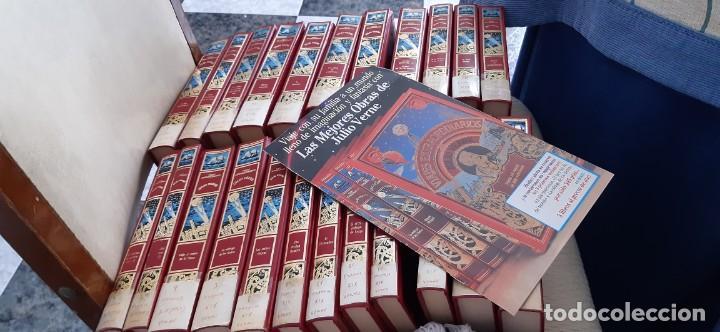 CLUB INTERNACIONAL LIBRO MEJORES OBRAS JULIO VERNE LOTE 23 NOVELAS COMPLETO Y FOLLETO PROMOCION 1989 (Libros de Segunda Mano - Literatura Infantil y Juvenil - Novela)