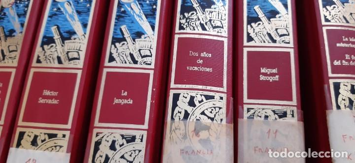 Libros de segunda mano: CLUB INTERNACIONAL LIBRO MEJORES OBRAS JULIO VERNE LOTE 23 NOVELAS COMPLETO Y FOLLETO PROMOCION 1989 - Foto 3 - 199924922