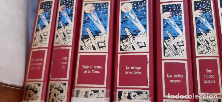 Libros de segunda mano: CLUB INTERNACIONAL LIBRO MEJORES OBRAS JULIO VERNE LOTE 23 NOVELAS COMPLETO Y FOLLETO PROMOCION 1989 - Foto 6 - 199924922