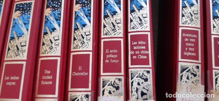 Libros de segunda mano: CLUB INTERNACIONAL LIBRO MEJORES OBRAS JULIO VERNE LOTE 23 NOVELAS COMPLETO Y FOLLETO PROMOCION 1989 - Foto 7 - 199924922