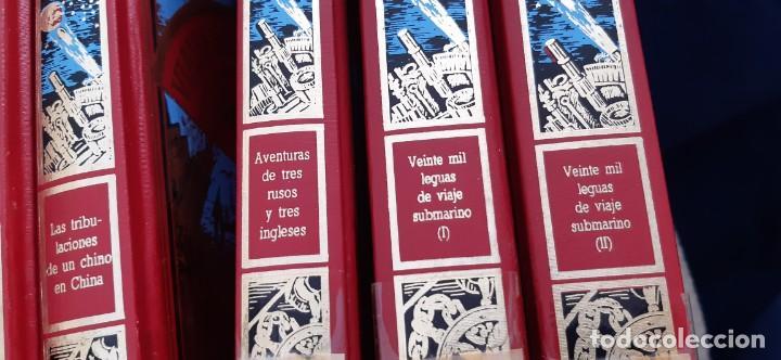 Libros de segunda mano: CLUB INTERNACIONAL LIBRO MEJORES OBRAS JULIO VERNE LOTE 23 NOVELAS COMPLETO Y FOLLETO PROMOCION 1989 - Foto 8 - 199924922