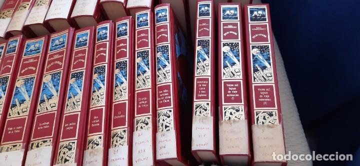 Libros de segunda mano: CLUB INTERNACIONAL LIBRO MEJORES OBRAS JULIO VERNE LOTE 23 NOVELAS COMPLETO Y FOLLETO PROMOCION 1989 - Foto 10 - 199924922