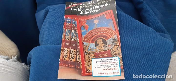 Libros de segunda mano: CLUB INTERNACIONAL LIBRO MEJORES OBRAS JULIO VERNE LOTE 23 NOVELAS COMPLETO Y FOLLETO PROMOCION 1989 - Foto 12 - 199924922