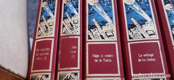 Libros de segunda mano: CLUB INTERNACIONAL LIBRO MEJORES OBRAS JULIO VERNE LOTE 23 NOVELAS COMPLETO Y FOLLETO PROMOCION 1989 - Foto 23 - 199924922
