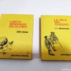 Libros de segunda mano: LA ISLA DEL TESORO Y LA VUELTA AL MUNDO., HISTORIAS INFANTIL BRUGUERA 1 EDIC, 1968 , SIN CARATULAS-. Lote 200889861