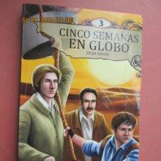Libri di seconda mano: CINCO SEMANAS EN GLOBO , JULIO VERNE - EDICIONES SALDAÑA 2013 - ILUSTRADO.. Lote 201802501