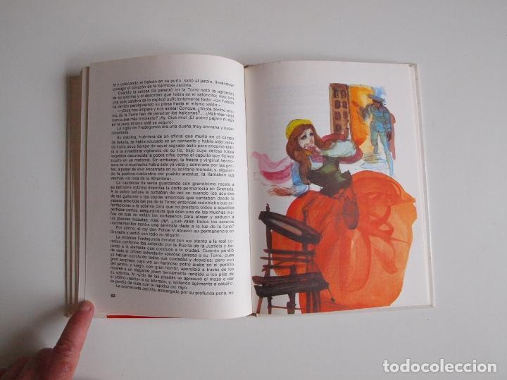 Libros de segunda mano: LEYENDAS DE LA ALHAMBRA - WASHINGTON - COLECCIÓN SAETA (Nº 30) - EDICIONES SUSAETA 1975 - Foto 5 - 203261473