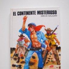 Libros de segunda mano: EL CONTINENTE MISTERIOSO - EMILIO SALGARI - COLECCIÓN SAETA Nº 93 - EDICIONES SUSAETA 1984. Lote 203272841