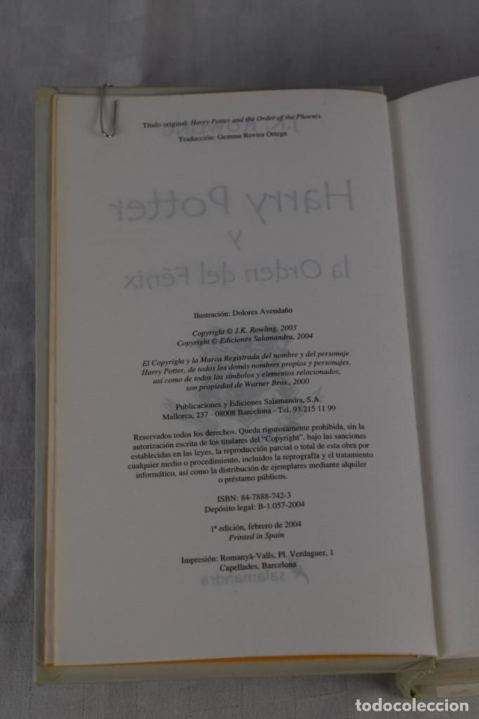 Libros de segunda mano: HARRY POTTER Y LA ORDEN DEL FENIX - Foto 2 - 205120682
