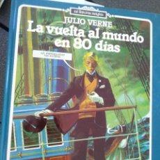 Libros de segunda mano: LA VUELTA AL MUNDO EN 80 DIAS. JULIO VERNE. EDICIONES JUNIOR S.A BARCELONA 1982. Lote 206480776