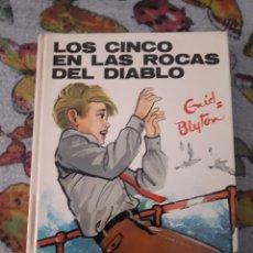 Libros de segunda mano: LOS CINCO EN LAS ROCAS DEL DIABLO. ENID BLYTON. EDICION JUVENTUD DE 1975.. Lote 206987551