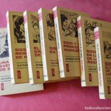 Libros de segunda mano: SISSI - 7 LIBROS - HISTORIAS SELECCION BRUGUERA - AÑOS 70 - VER TITULOS Y FOTOS. Lote 208684292