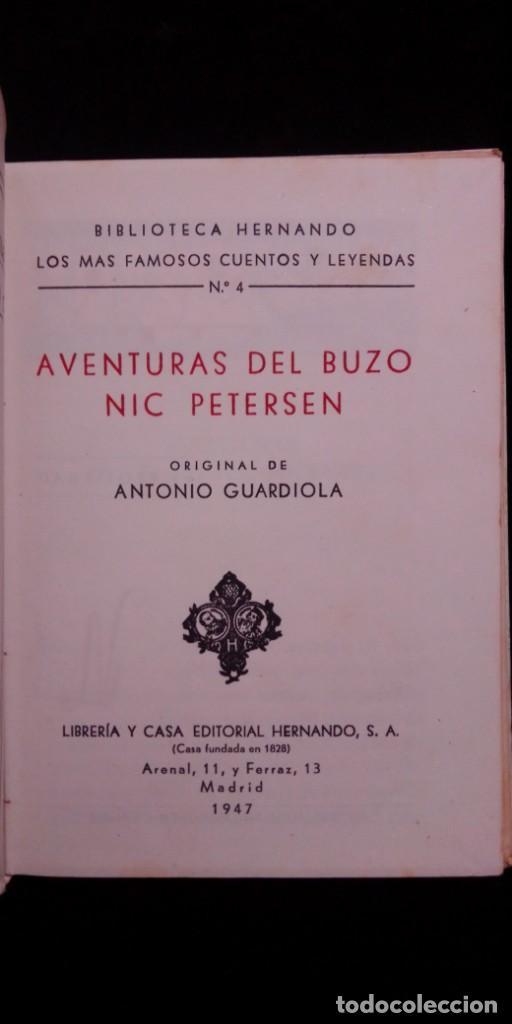 Libros de segunda mano: las Aventuras del buzo Nic Petersen de Antonio Guardiola Coleccion Hernando 1947 - Foto 3 - 208886315