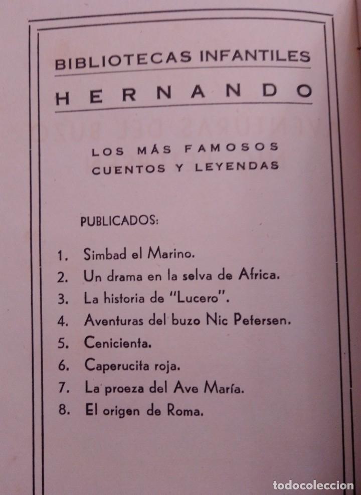 Libros de segunda mano: las Aventuras del buzo Nic Petersen de Antonio Guardiola Coleccion Hernando 1947 - Foto 4 - 208886315