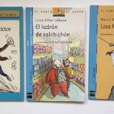 Libros de segunda mano: 3 LIBROS: EL BARCO DE VAPOR (SM, 1997-2005) 7 AÑOS. INFANTILES. ORIGINALES. Lote 209144695