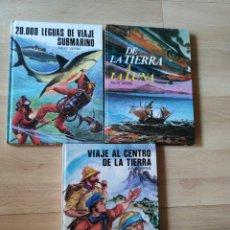 Libros de segunda mano: LOTE DE 3 LIBROS JUVENILES COLECCIÓN SAETA. DE JULIO VERNE. Lote 209247025