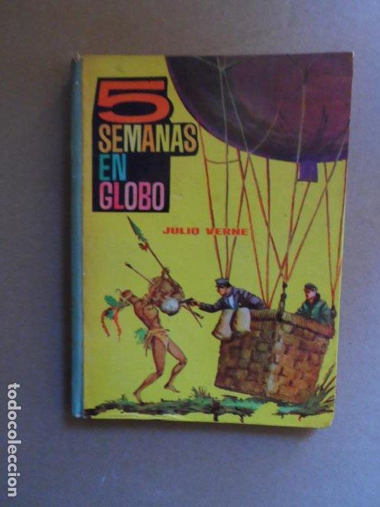 5 SEMANAS EN GLOBO - JULIO VERNE - TOMO 10 - EDICIONES EVA - 1964 (Libros de Segunda Mano - Literatura Infantil y Juvenil - Novela)