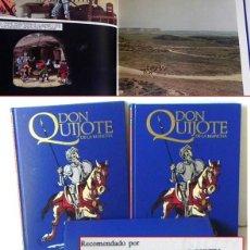 Libros de segunda mano: LOTE TOMOS DON QUIJOTE DE LA MANCHA CÓMIC CON FOTOS LIBROS LIBRO TOMO CEMSA JOYA MIGUEL DE CERVANTES. Lote 212680770