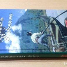 Livres d'occasion: ESCUELA DE ROBINSONES - JULIO VERNE - SELECCIÓN AVENTURA W305. Lote 215726152