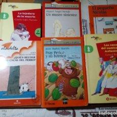 Libros de segunda mano: LOTE DE 6 LIBROS DE LITERATURA INFANTIL VARIOS TÍTULOS MIRAR FOTOS. Lote 217261927