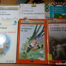 Libros de segunda mano: LOTE DE 6 LIBROS DE LITERATURA INFANTIL VARIOS TÍTULOS MIRAR FOTOS. Lote 217262298