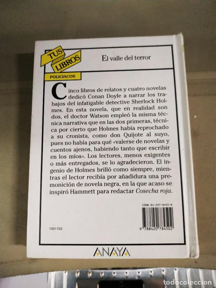 Libros de segunda mano: El Valle del Terror - Arthur Conan Doyle. Anaya tus Libros 153 - Foto 3 - 219495965