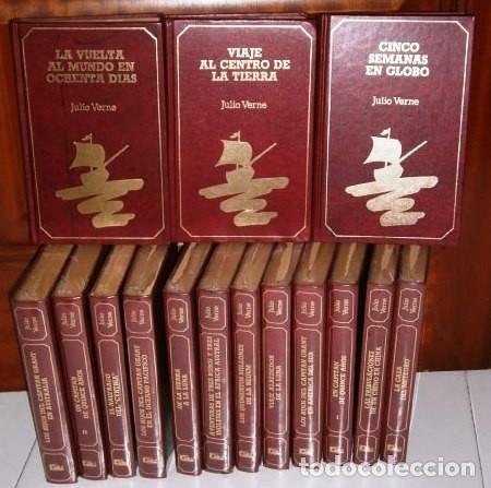 COLECCIÓN VIAJES EXTRAORDINARIOS 15T POR JULIO VERNE DE ED. GMS EN BARCELONA 1990 (Libros de Segunda Mano - Literatura Infantil y Juvenil - Novela)