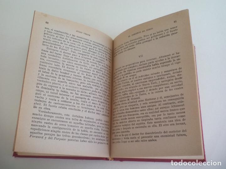 Libros de segunda mano: EL DESIERTO DE HIELO. JULIO VERNE. 1957. COLECCIÓN ROBINSONES Nº 30. EDITORIAL MIGUEL ARIMANY - Foto 2 - 222731140