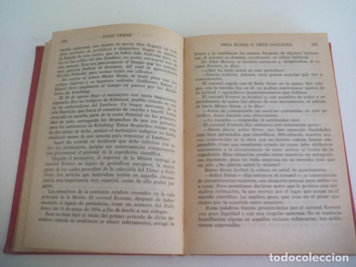 Libros de segunda mano: AVENTURAS DE TRES RUSOS Y DE TRES INGLESES JULIO VERNE 1959 COLECCIÓN ROBINSONES 43 MIGUEL ARIMANY - Foto 2 - 222731720