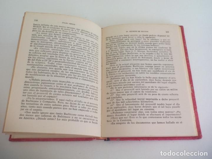 Libros de segunda mano: EL SECRETO DE MASTON. JULIO VERNE. 1958 COLECCIÓN ROBINSONES Nº 40 EDITORIAL MIGUEL ARIMANY - Foto 2 - 222738500