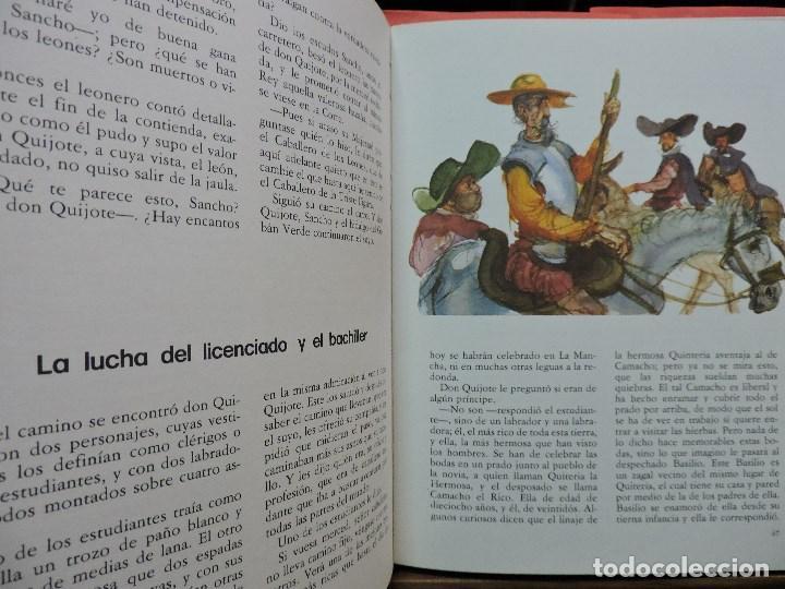 Libros de segunda mano: Don Quijote de la Mancha. DE CERVANTES, Miguel. Ediciones Susaeta. Madrid 1975. - Foto 2 - 222753331