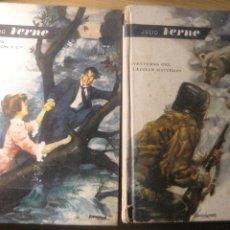 Libros de segunda mano: 2 JULIO VERNE . AGENCIA THOMPSON Y CIA 1963 AVENTURAS DEL CAPITAN HATTERAS 1960 ED MOLINO. Lote 222917332