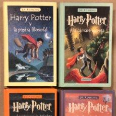 Libros de segunda mano: HARRY POTTER. J.K. ROWLING. LOTE CON LOS 4 PRIMEROS NÚMEROS. TAPA DURA.. Lote 226265890